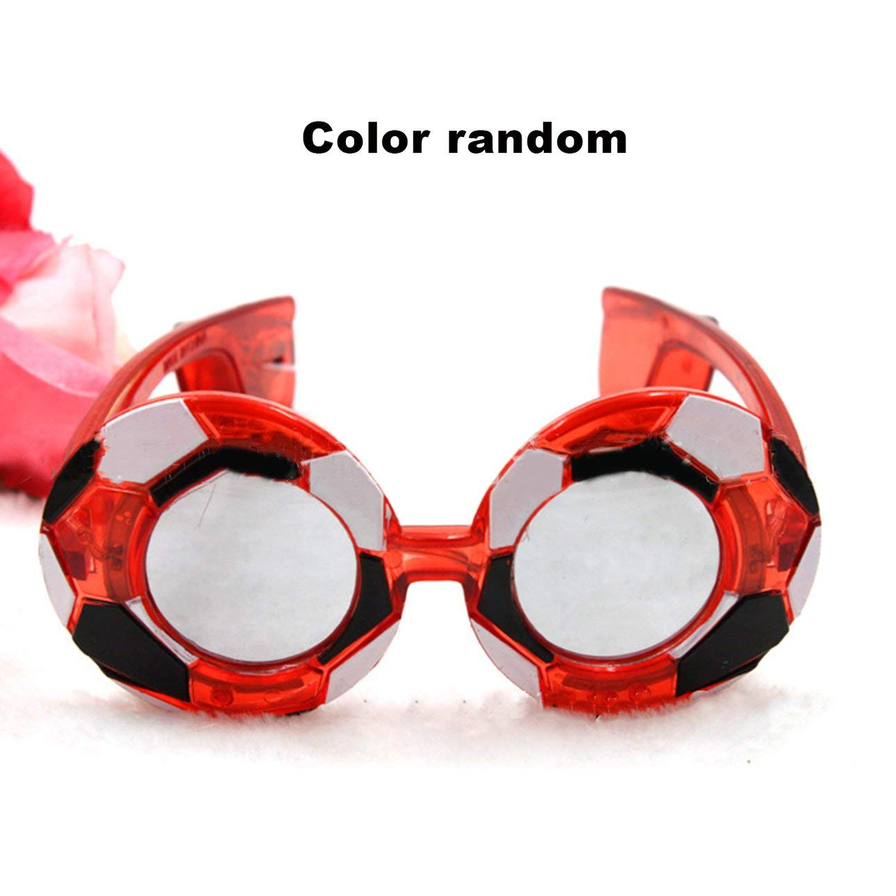 Fashion Football LED Light-Up Eye Glasses World Cup Fans Flashing Glasses Eyewear Glowing Party Christmas Year Supplies