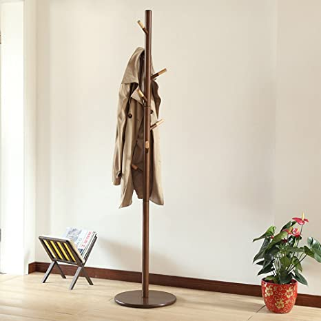 Amazon.com: XM ZfgG - Perchas de madera simples, para suelos ...