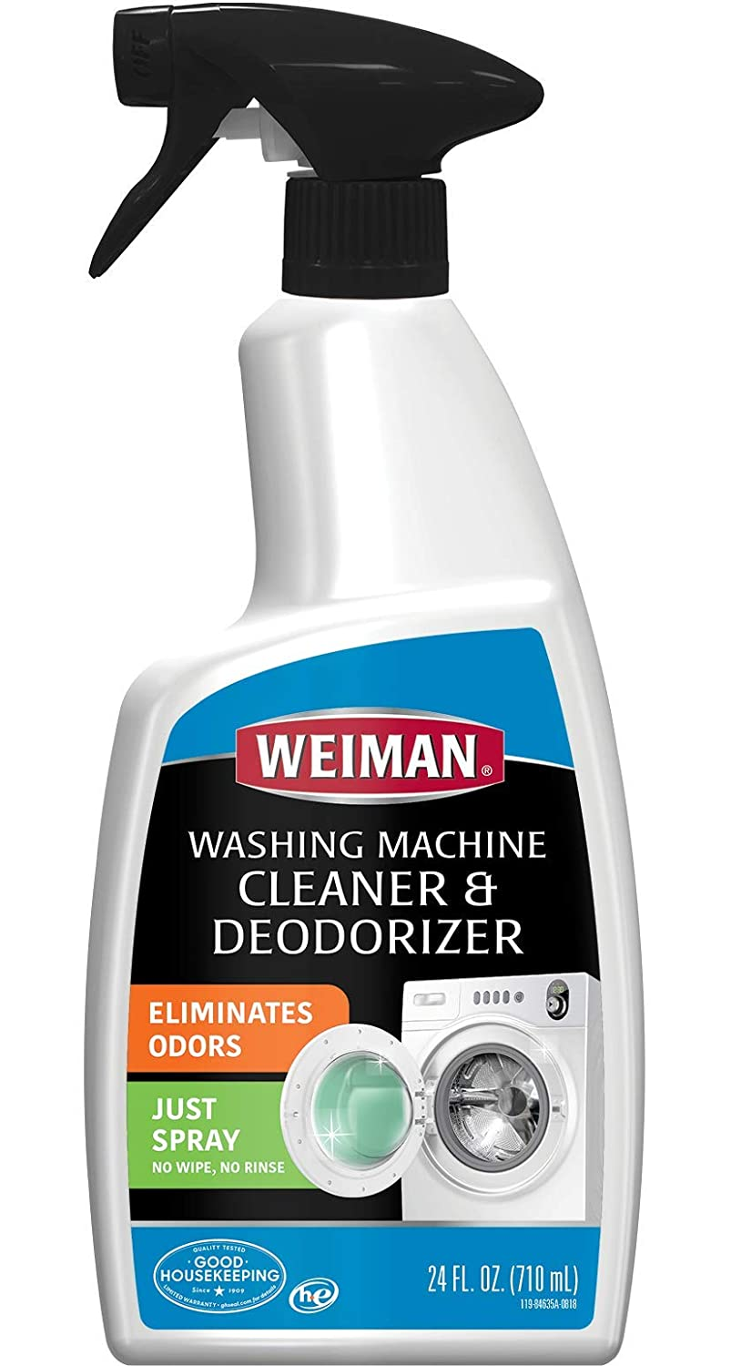 Weiman Washing Machine Cleaner and Deodorizer - Cleans Washing Machines Without Damaging Clothing - 24 Fl. Oz.