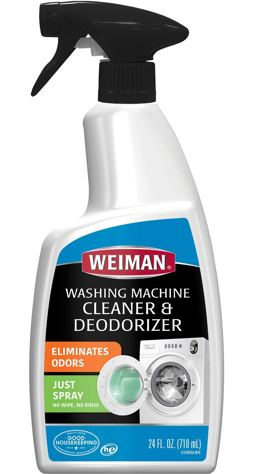 Weiman Washing Machine Cleaner and Deodorizer - Cleans Washing Machines Without Damaging Clothing - 24 Fl