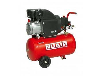 Nuair M255380 - Compresor de piston con aceite rc2-2hp rl 24 cm red: Amazon.es: Bricolaje y herramientas