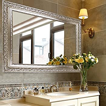 Hans&Alice Large Silver Vanity Wall-Mounted Mirro