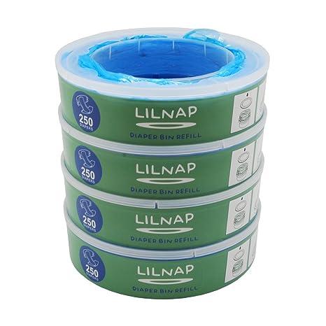 lilnap – Cubos ANGELCARE para Angel Care – Cubo para pañales Talla:4er Pack