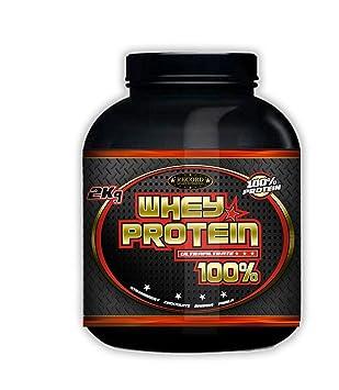 Whey Protein 100% 2kg profesional, proteina de suero, sabor vainilla: Amazon.es: Salud y cuidado personal