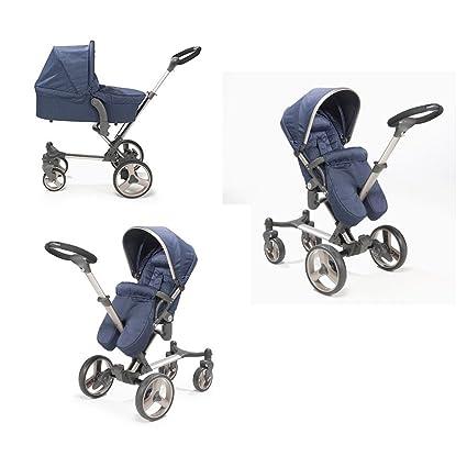 mee-go Inspire carrito con capazo y unidad de asiento, color azul