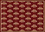 Milliken 4000018984 Iowa State College Repeating Area Rug, 10'9'' x 13'2'', 01111 Repeat