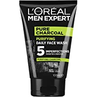 L'Oréal Paris Men Expert Pure Power Charcoal Face Wash For Men, for Oily Skin and Breakouts, with Oak Charcoal, 100ml
