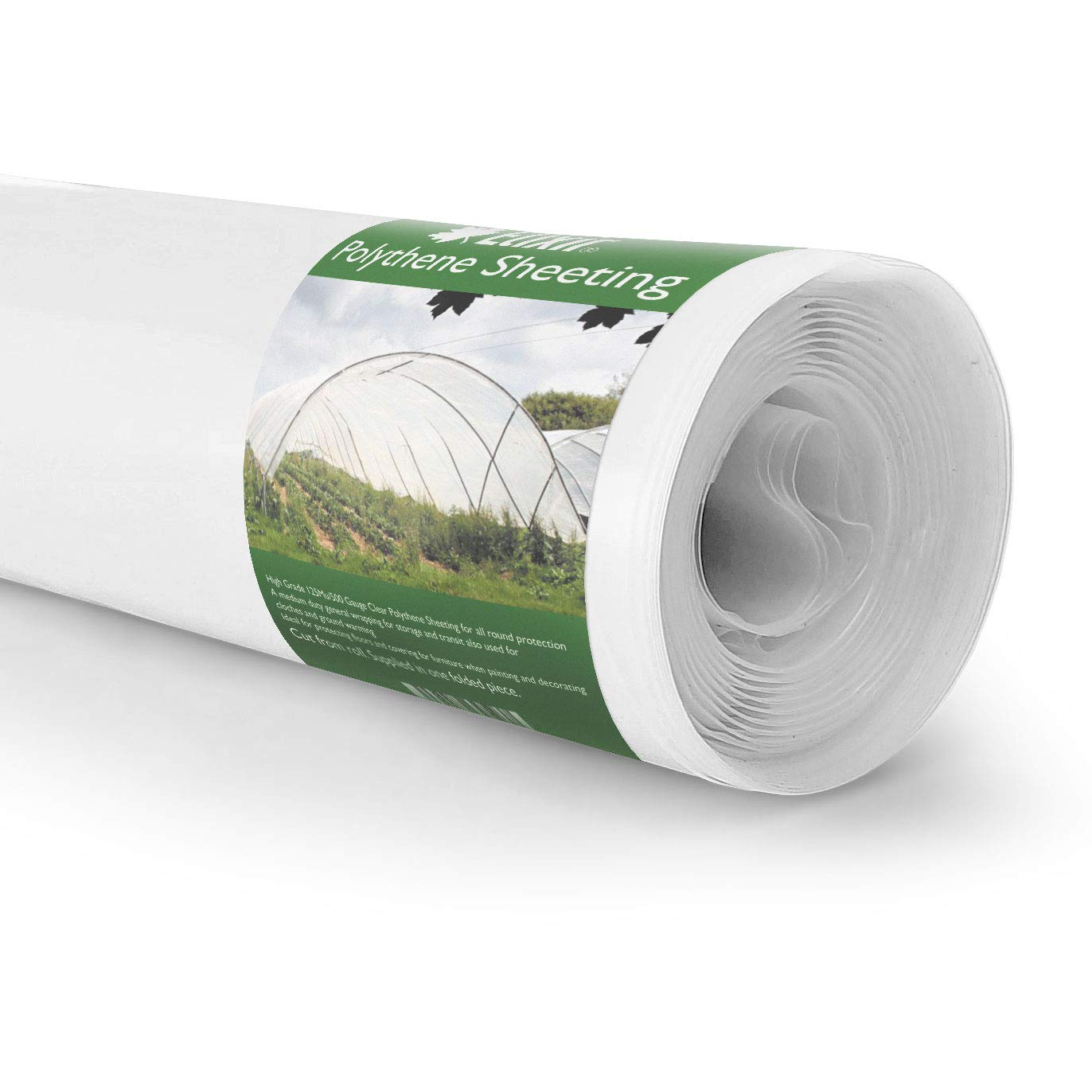 QVS Shop 4M X 10M Black Polythene Sheeting 125Mu 500G Plastic Sheet Protection Cover