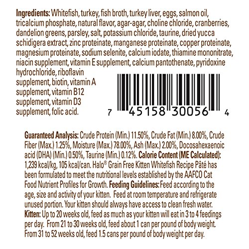 new halo holistic wet cat food for kittens whitefish recipe pâté 3