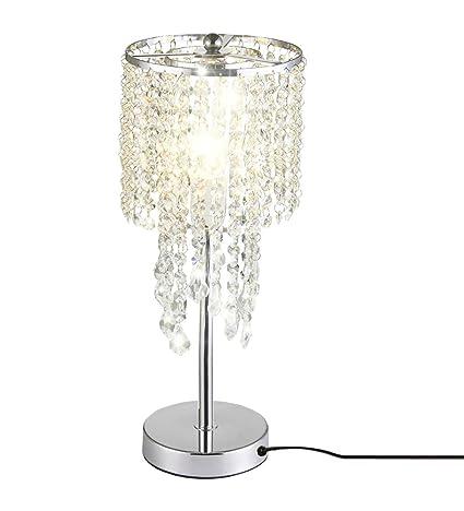 delle fabricado Rain Drop Plata Cristal Lámpara de mesa para ...