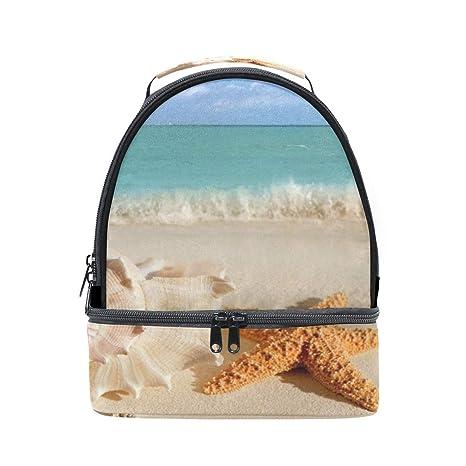 3ae799a90e83 Amazon.com: Lunch Bag Beach Starfish Inspiring Womens Insulated ...