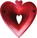 Iron Stop 30cm Large Heart Classic Wind Spinner - Red