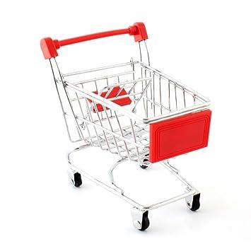 Newin Star Juego Niños Mini Carro de Compras supermercado de Compras de carros de Mano Carro utilitario Juguete Modo de Almacenamiento para la Infancia ...