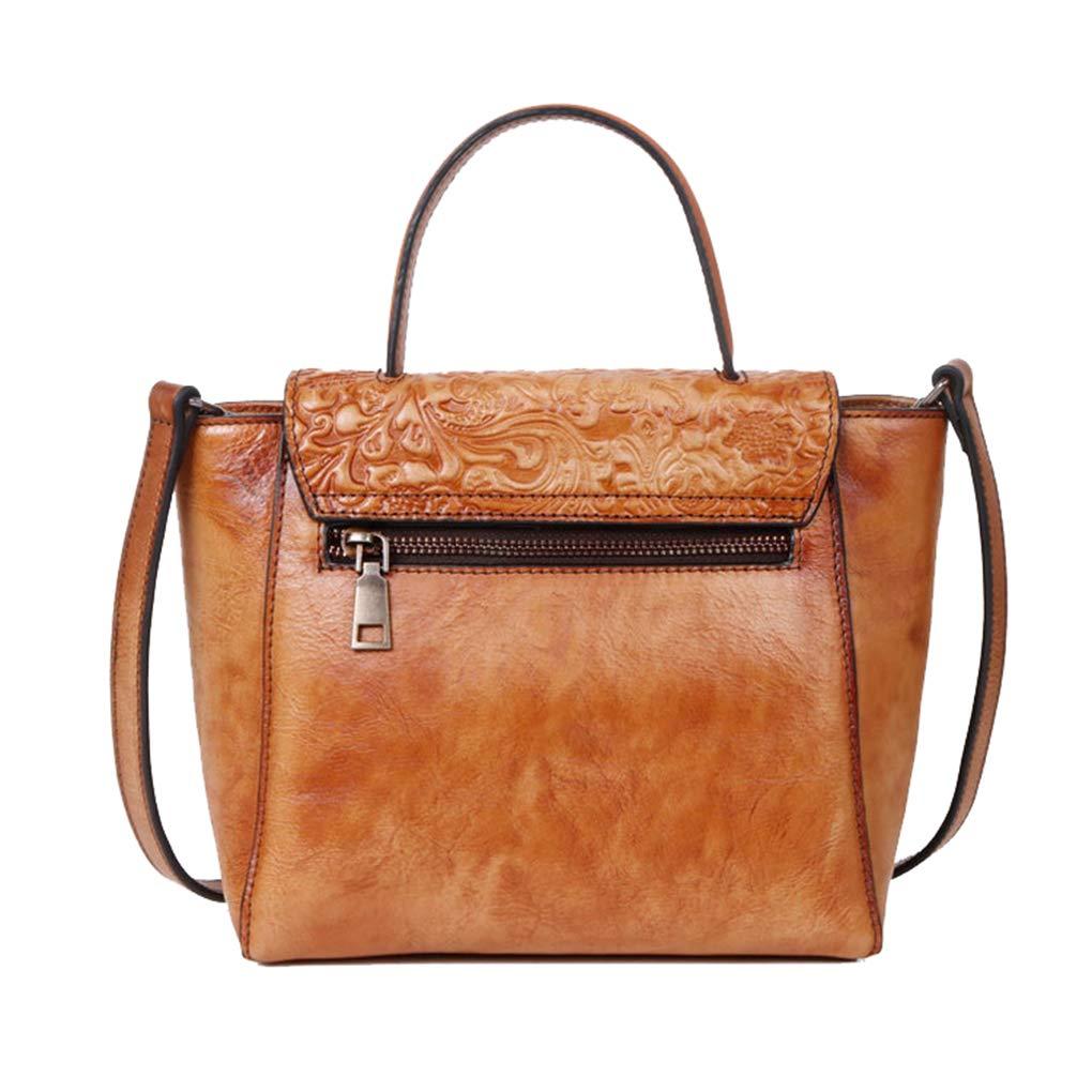 shengweiao kvinnors läderväska handväskor tygväska axelväskor Brun