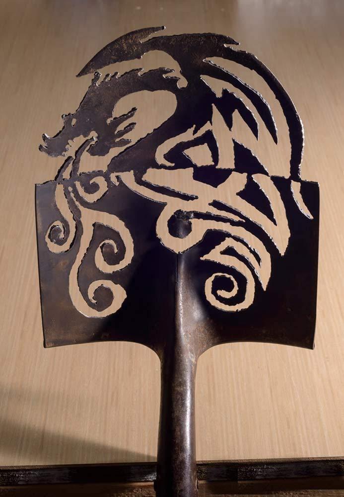 Amazon Com Metal Art Dragon Design Hand Plasma Cut Shovel
