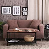 Thicken furniture protector living room,Non slip slipcovers High elasticity pets and kids couch cover Sectional sofa throw pad-A 4 Seater(92x118inch)