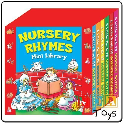 (Party Bags 2 Go Nursery Rhymes Mini Library Pack Of 6 Mini Board Books Normal)