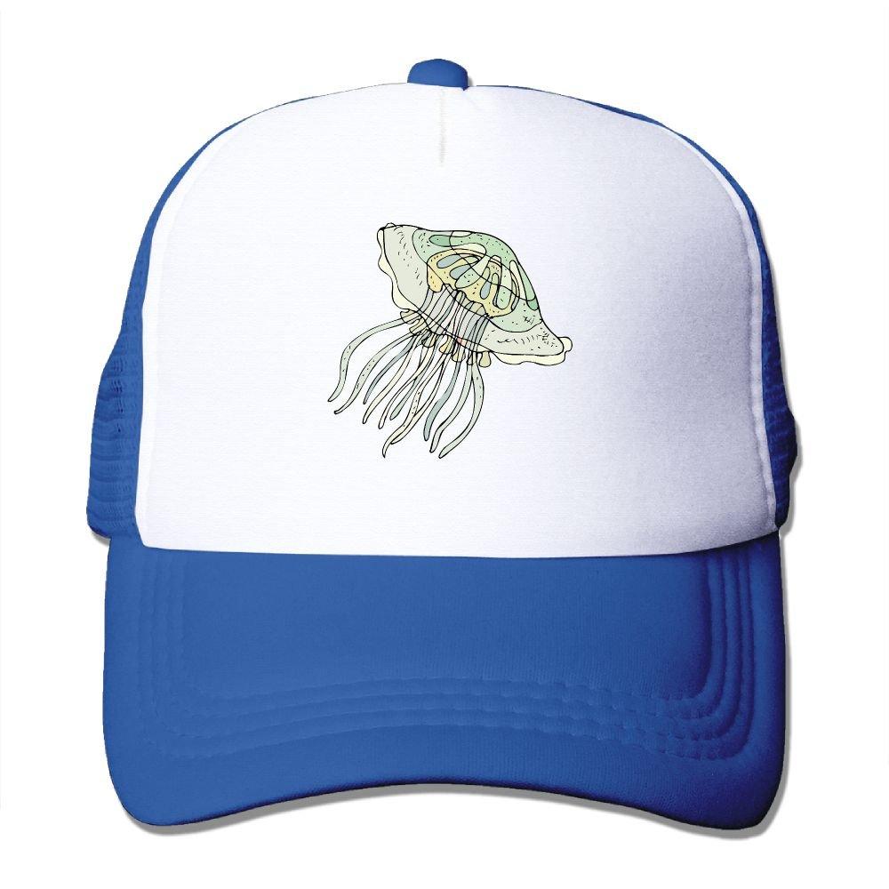 Teesofun Mesh Baseball Caps Jellyfish Animal Lovers Unisex Adjustable Sports Trucker Cap