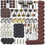 SHINA 145 Piece Rotary Tool Accessory Set - Fits - Grinding, Sanding, Polishing