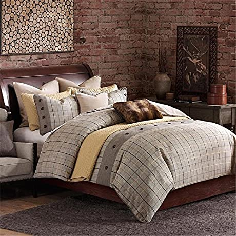 FB10 1037 Shadow Mountain Comforter Set With Bed Skirt