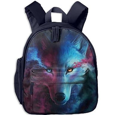73d45e64eaec Amazon.com | Charming Galaxy Wolf School Book Bag Cool Backpack Bag ...