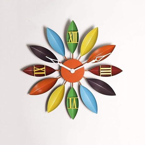 LKOPSLA Reloj de Pared Retro Reloj de Pared Marcha Viento Industrial árabe Hueco Restaurante Digital Reloj