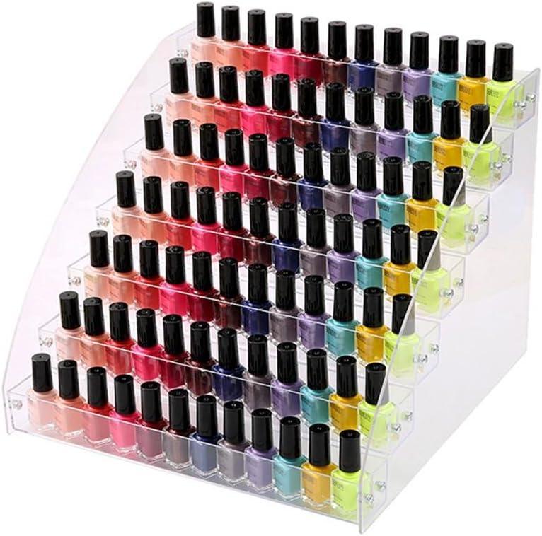 warooms esmalte de uñas Soporte, universal transparente acrílico esmalte de uñas veranstalter Space Saver esmalte de uñas pantalla Mantiene hasta 60botellas (2/3/4/5/6/7capas)
