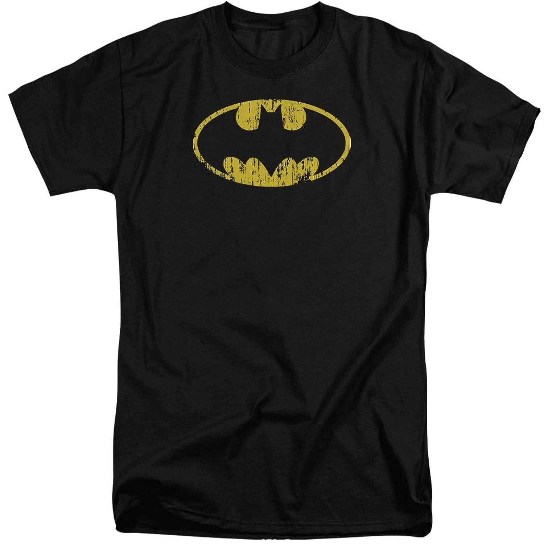 Batman Men's Classic Logo Distressed Tall T-Shirt