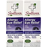 Similasan Allergy Eye Relief Eye Drops 0.33 Ounce Bottle, for Temporary Relief from Red Eyes, Itchy Eyes, Burning Eyes, and Watery Eyes, 2 Count