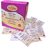 Menstrual Cup Wipes | Intimate Hygiene Cleaning Tissue | Individual Cloth Wipe | Feminine Wipe and Genital Wash | 30 Single Satchels | Handy for Travel