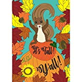 Cheap Magnolia Garden It's Fall Y'all Harvest Leaves Squirrel 30 x 44 Rectangular Large House Flag