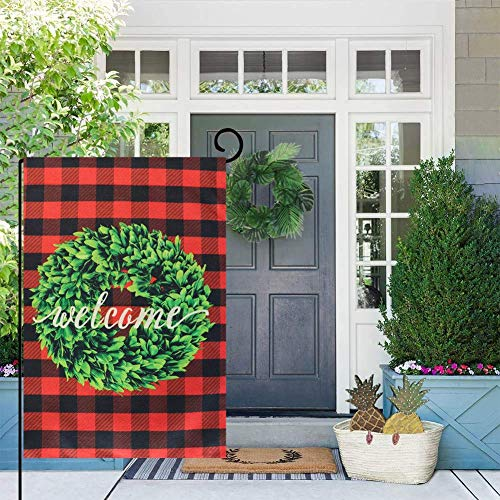 Beenut Christmas Garden Flag Double Sided Printed Linen House Flag for Christmas Decoration
