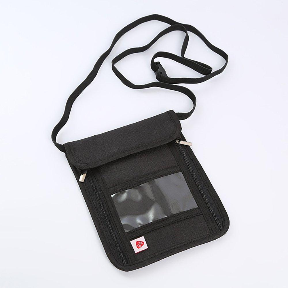RFID Leather Passport Holder for Women Black PAQI Passport Holder for Men