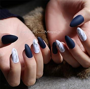 Amazon.com: Nude - uñas mármol mate textura falsa uñas ...