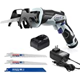 WORKPRO 12V Cordless Reciprocating Saw with Clamping Jaw, 2.0Ah Li-Ion Battery with 1 Hour Fast Charger, Variable Speed…