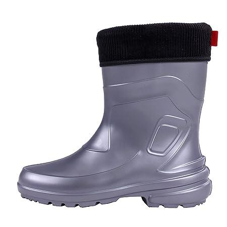 Lemigo Jessy 800 Damen Gummistiefel Regenstiefel Schuhe Regen Stiefel aus EVA mit herausnehmbarem Innenschuh, Farbe:Lila, Größe:36