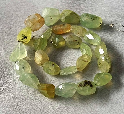 Prehnite Nugget - PREHNITE faceted nuggets, Prehnite gemstone, Nice quality, size -- 11x11 mm -- 14x19 mm Approx, 15