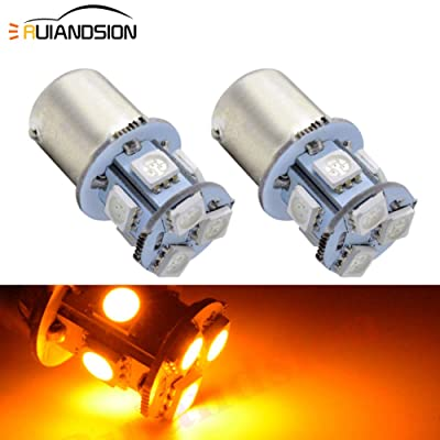 Ruiandsion 2pcs 6V 1156 7506 BA15S Super Bright 5050 8SMD Chipset LED Replacement Bulb for Reverse light Turn signal light Tail light,Non-polarity(Yellow): Automotive