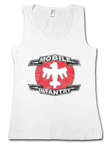 Urban Backwoods Mobile Infantry Logo Donna Canotta Tank Top Woman Gym Training Fitness Shirt – Tagli...