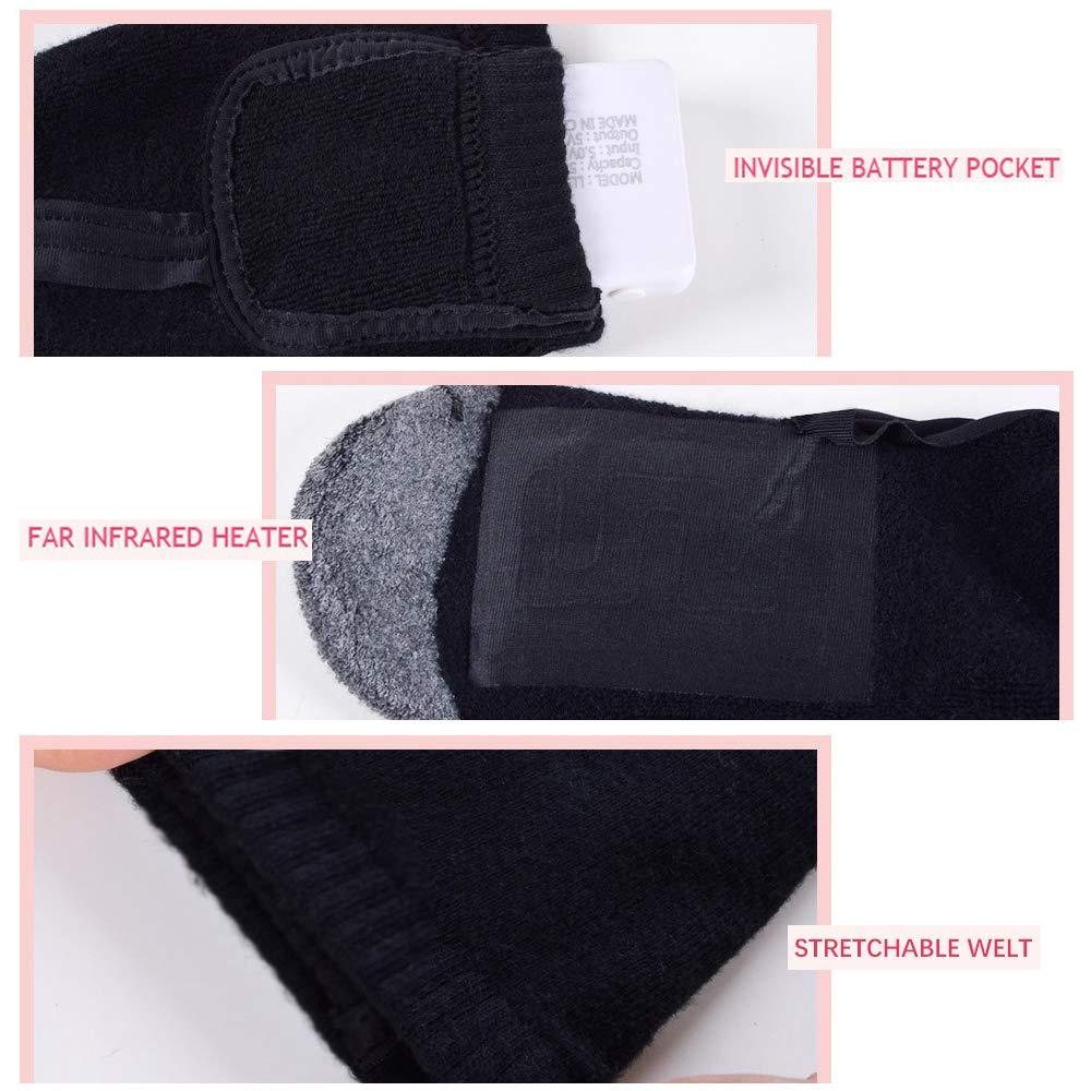 Chaussettes Thermiques pour Femmes//Hommes Chaussettes Chaudes pour Moto//v/élo//Chasse//Ski Lixada Chaussettes Chauffantes /électriques Coton /épais Batterie Rechargeable
