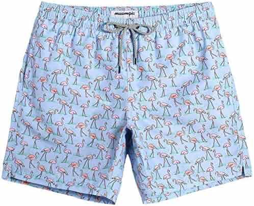 b75db30423a MaaMgic Mens Swim Trunks Quick Dry Beach Wear Shorts Mesh Lining Swimwear  Bathing Suits