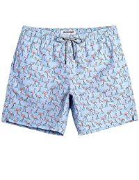 d5d8d74031ea2 MaaMgic Men's Short Swim Trunks,Slim Fit Quick Dry Board Shorts with Mesh  Lining