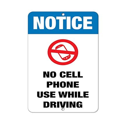 iliogine wall art decorative signs notice no cell phone use while driving business sign metal room