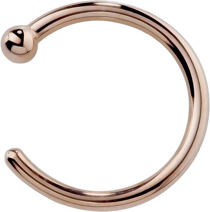 tw Diamond 950 Platinum Twist Screw Nose Ring FreshTrends 3mm 0.1 ct