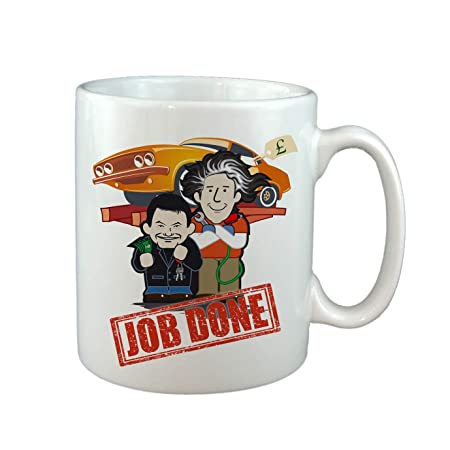 JOB DONE TV MUG, TOP GEAR FOR ANY CAR NUT  (NOT WHEELER DEALERS