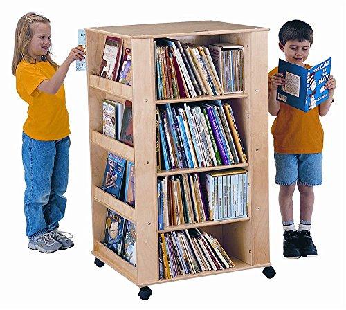- Jonti-Craft Mobile Media Tower and Book Storage Unit