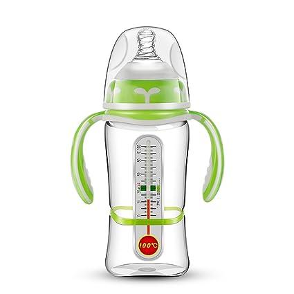 SHIEM Botella de los Niños/Botella con Termómetro/Gota de Vidrio Suministros de bebé