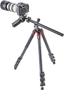 "3Pod Orbit Tripod for DSLR Photo & Video Cameras, 4 Section Extension Legs, with Pistol Grip Ballhead, Bubble Level, with Bag. 69"", Carbon Fiber"