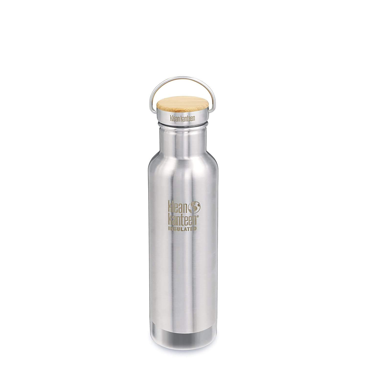 Klean Kanteen Reflect Stainless Steel Plastic Free Water Bottle, Double Wall Vacuum Insulated with Stainless Steel/Bamboo Cap
