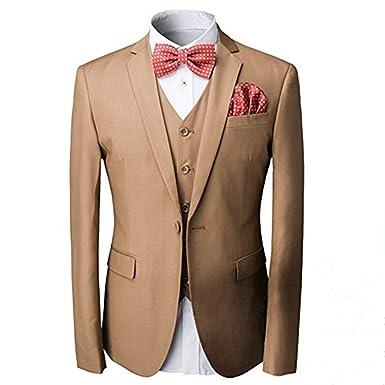 Traje para hombre de 3 piezas Cloudstyle corte entallado, chaqueta de 1 botón y chaleco, para bodas, graduaciones, fiestas